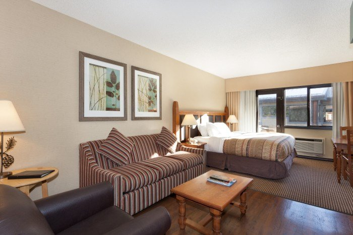 The Studio Suite features a queen bed and pull-out sofabed - Studio Suite | Blackcomb Lodge, Whistler - Whistler - rentals