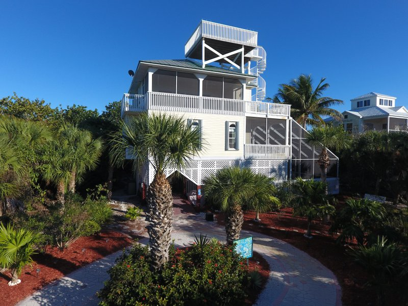 Beach Home w/ Screened In Pool, Hot Tub, Elevator - Image 1 - North Captiva Island - rentals