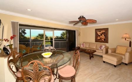 Living/Dining - Firethorn 111 - Siesta Key - rentals