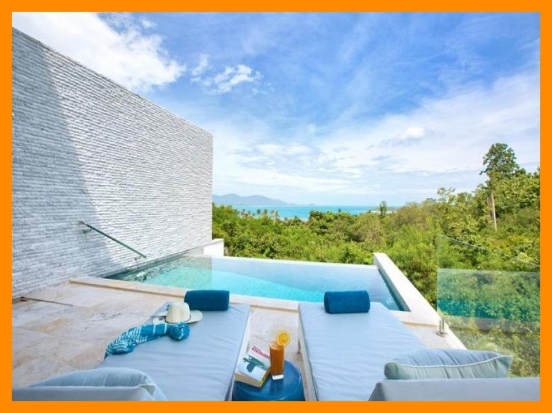 4226 - Contemporary seaview villa with infinity edge pool - Image 1 - Plai Laem - rentals