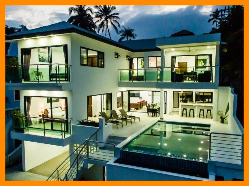 6225 - Great value pool villa for 12 guests - Image 1 - Lamai Beach - rentals