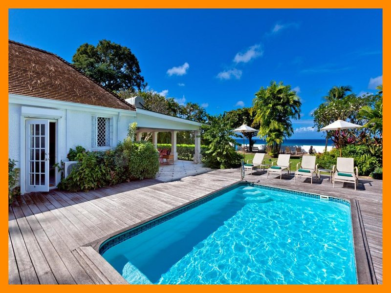 Fantastic 4 Bed Beachfront Villa with Pool - Image 1 - Gibbes - rentals