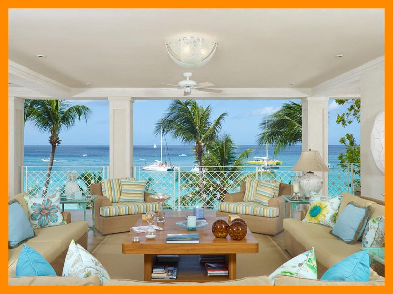Luxury 4 Bed Beachfront Apartment - Beach Access - Image 1 - Paynes Bay - rentals