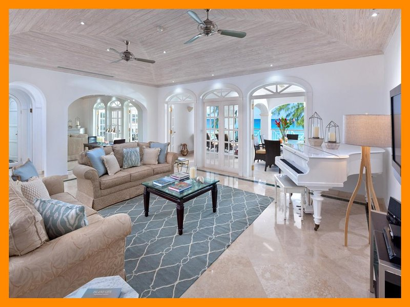 Luxury 3 Bed Beachfront Apartment - Sea Views - Image 1 - Paynes Bay - rentals