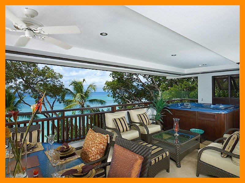 Luxury 3 Bed Beachfront Apartment - Private Terrace - Image 1 - Paynes Bay - rentals