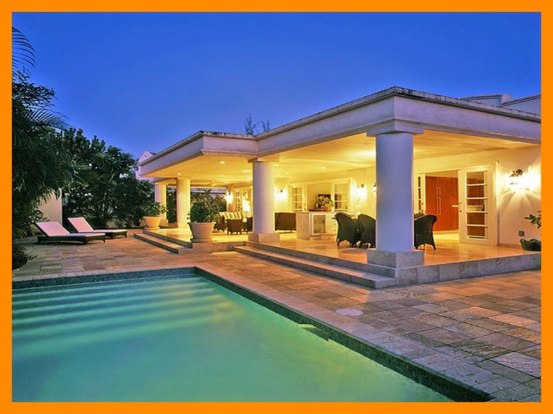 Beautifully furnished luxury villa with private pool, sun patio and gardens as well as a wide 50ft long covered terrace - Image 1 - Mullins - rentals