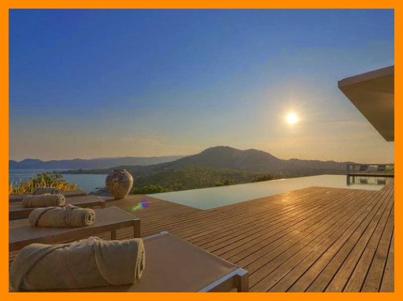 5164 - Unique and stylish with infinity pool and seaviews - Image 1 - Choeng Mon - rentals