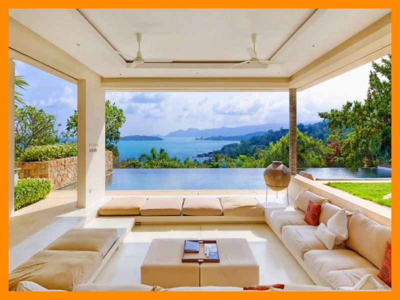 5171 - Unique and stylish with infinity pool and seaviews - Image 1 - Choeng Mon - rentals