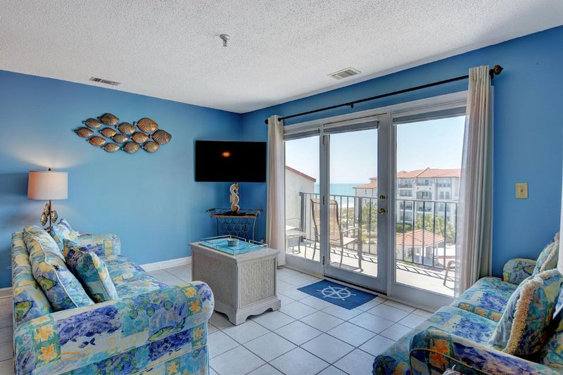 Living Area - Villa Capriani 407-B-2BR_8 - North Topsail Beach - rentals