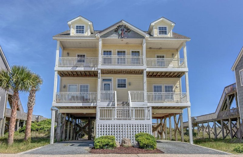 418 New River Inlet Road - New River Inlet Rd 418 Oceanfront! | Private Pool, Internet, Jacuzzi - North Topsail Beach - rentals
