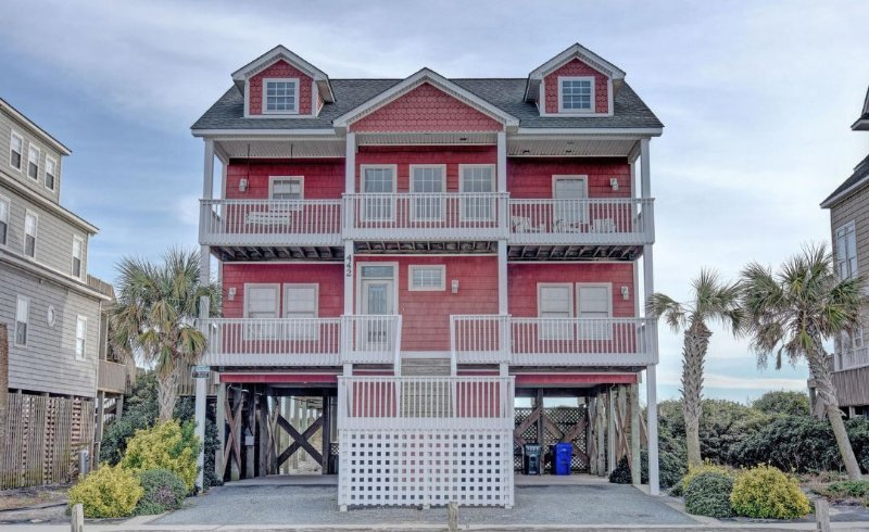 442 New River Inlet Rd - New River Inlet Rd 442 Oceanfront! | Private Pool, Hot Tub, Jacuzzi, Internet - North Topsail Beach - rentals