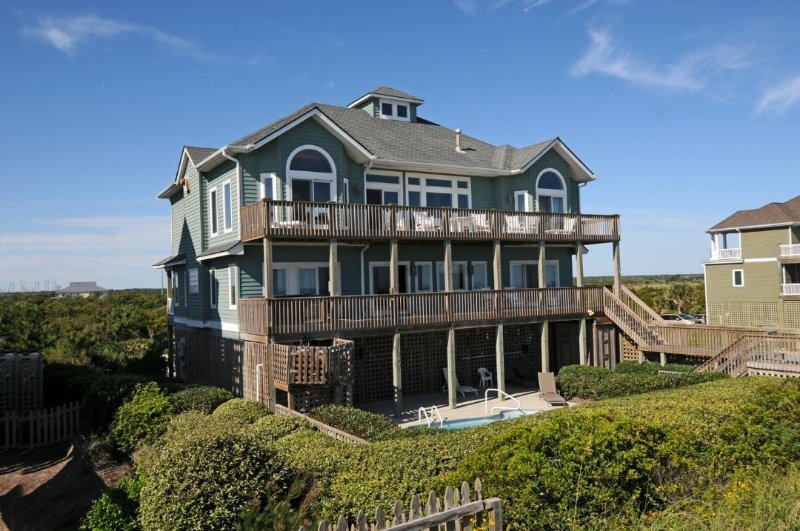 124 Oceanview Lane - Ocean View Ln 124 Oceanfront! | Private Heated Pool, Hot Tub, Elevator - North Topsail Beach - rentals