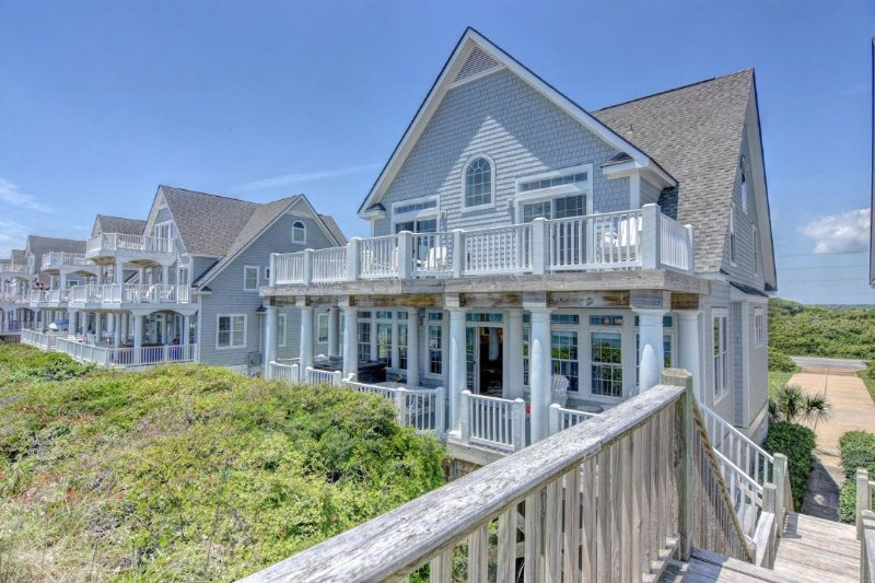 View of House From Beach - Island Drive 4276 Oceanfront! | Internet, Community Pool, Hot Tub, Jacuzzi - North Topsail Beach - rentals