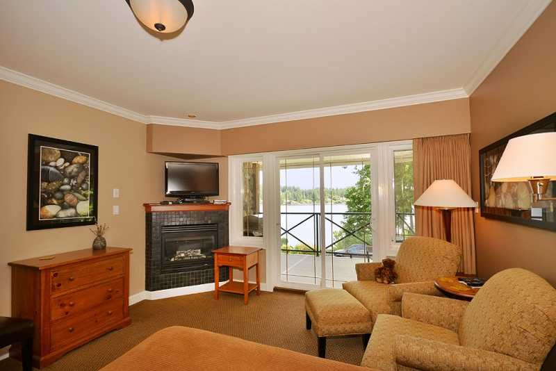 Living room area - Awesome Sidney Ocean View Studio Suite Close to Ocean and Beaches - Sidney - rentals