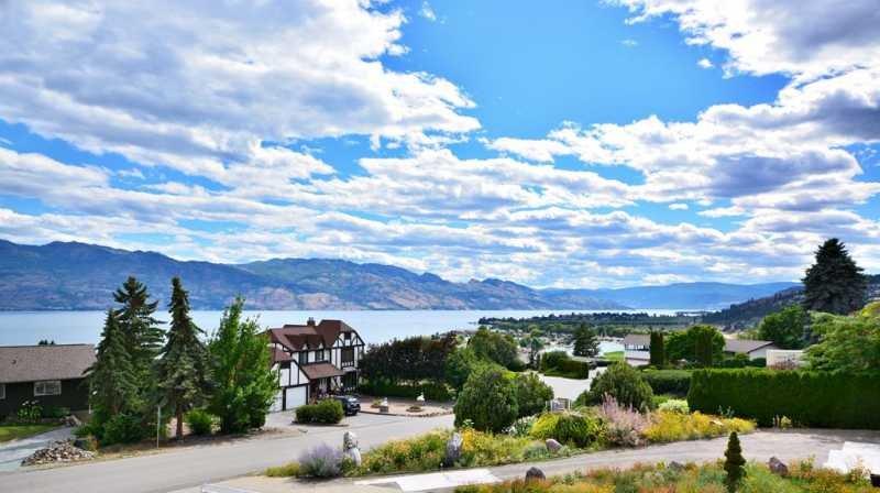 Views from deck - Incredible 5 Bedroom Okanagan Lake View Home with Hot Tub - West Kelowna - rentals