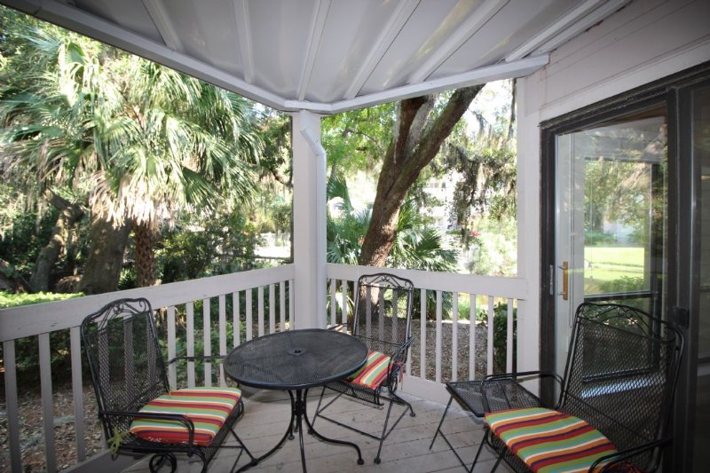 Balcony - Near Harbour Town in Sea Pines, Onsite Pool/Tennis - Hilton Head - rentals