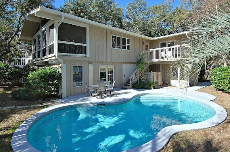 Pool Side - 200 Feet from the Beach - 5 Bedroom Home with Private Pool, Short Walk to - Hilton Head - rentals