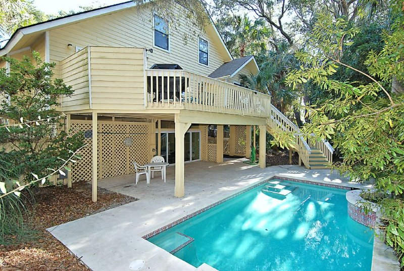 Pool - Short Stroll to Beach and Coligny, Private Pool and Game Room - Hilton Head - rentals
