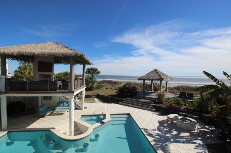 49 Dune Lane - Sweet Carolina Oceanfront Home, Private Pool, Hot Tub & Tiki Bar - Hilton Head - rentals