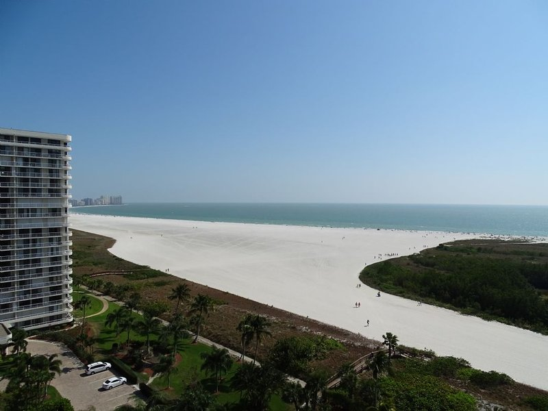 Beach view from balcony - Stunning - newly remodeled beachfront Condo in pristine Resort on the Gulf of - Marco Island - rentals