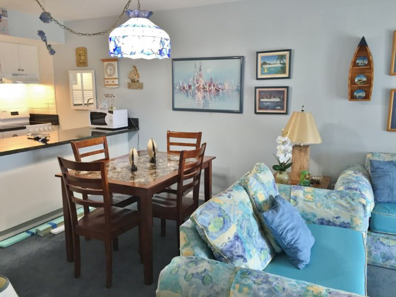 Living Room and Dining Area - Sail Away in this Nautical Theme Condo close to Island Activities - Marco Island - rentals