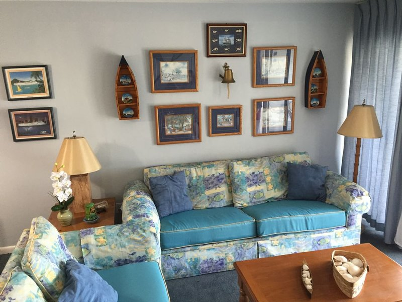 Living Room - Sail Away in this Nautical Theme Condo close to Island Activities - Marco Island - rentals