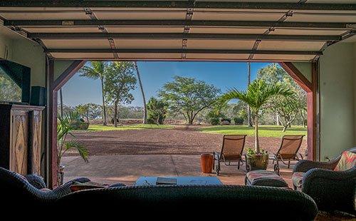 Living area view of grounds - Hale Puhi - Maunaloa - rentals