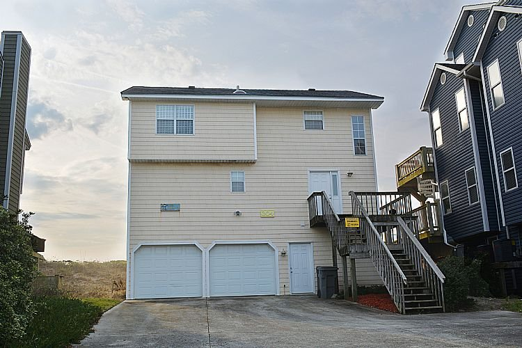 Front Exterior - Just Beachin' It - Spectacular Ocean View, Vibrant Interior - Surf City - rentals
