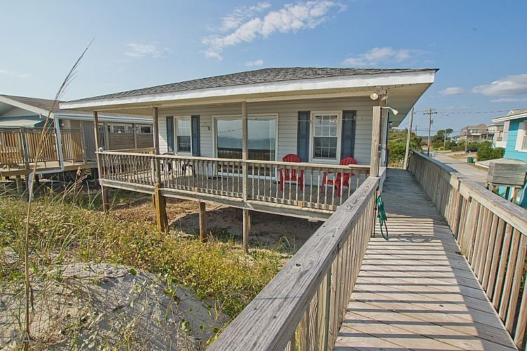 Exterior - The Choice - Superb Oceanfront View, Traditional Cottage, Simple & Serene - Surf City - rentals