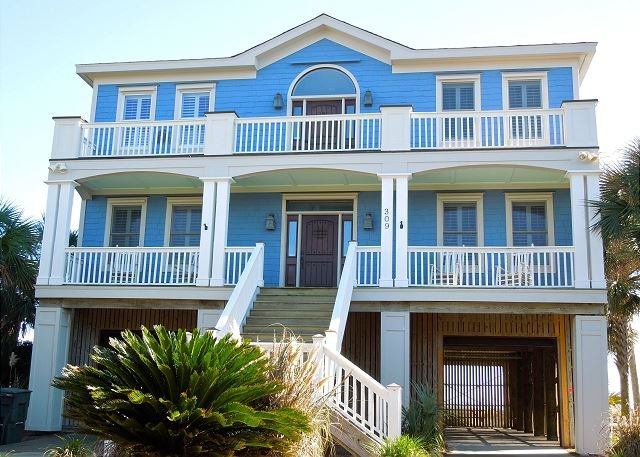 Street Side of Home - Oceanfront Relaxation at Its Best with Views of the Folly Pier and Beach - Folly Beach - rentals