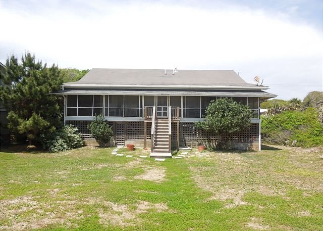 Oceanfront Exterior - A Summer Place - Vintage Beach Home with Oceanside Porch - Folly Beach - rentals