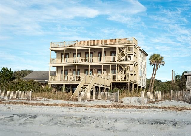 Oceanfront Elevation - Absolute Best View - Charming Oceanfront Home - Folly Beach - rentals
