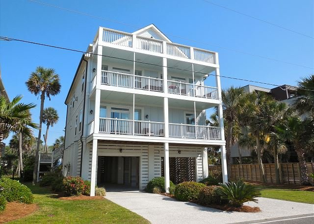 Front Side of Home - At Pelican's Pass - Great Home With Ocean View Luxury - Folly Beach - rentals