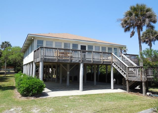 Front of Home - Beach Nuts 2- Newly Decorated Home with Ocean Views - Folly Beach - rentals