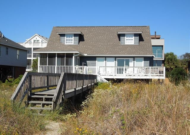 View from the Beach - Blue Bayou - Traditional Oceanfront Home - Folly Beach - rentals