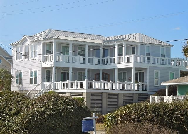 Exterior - Large, Beautifully Decorated Home with Pool and Unobstructed Ocean Views! - Folly Beach - rentals