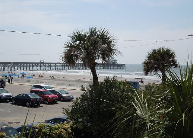 View of the Pier! - Charleston Oceanfront Villas 101 - Views of the Ocean and Pier - Folly Beach - rentals