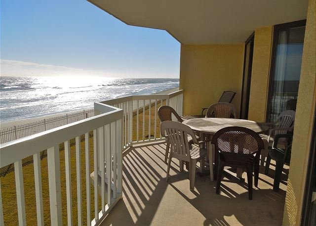 Oceanfront Balcony - Charleston Oceanfront Villas 110 - Luxury Condominiums on the Ocean`s Edge! - Folly Beach - rentals