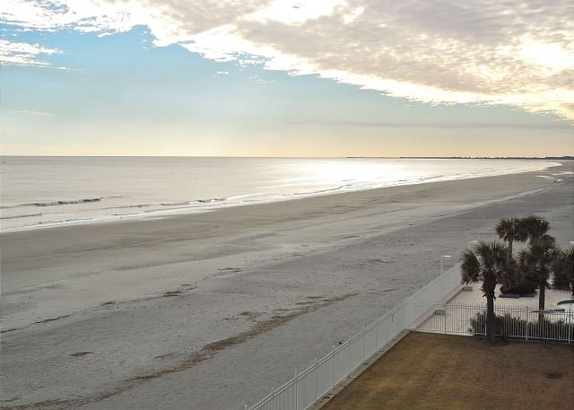 View Down the Beach - Charleston Oceanfront Villas 316 - Oceanfront Condo on Third Floor - Folly Beach - rentals