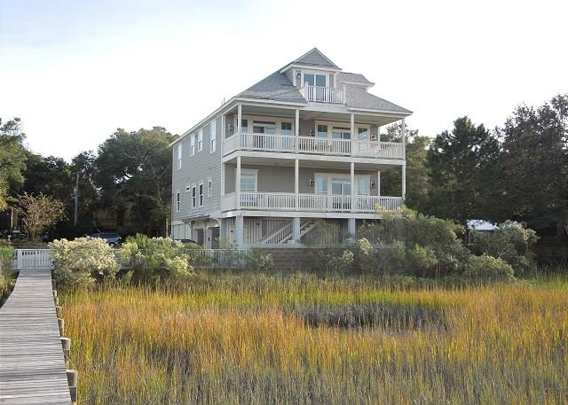 Marshfront Side of Home - Driftwood - Majestic Views from the Deck - Folly Beach - rentals