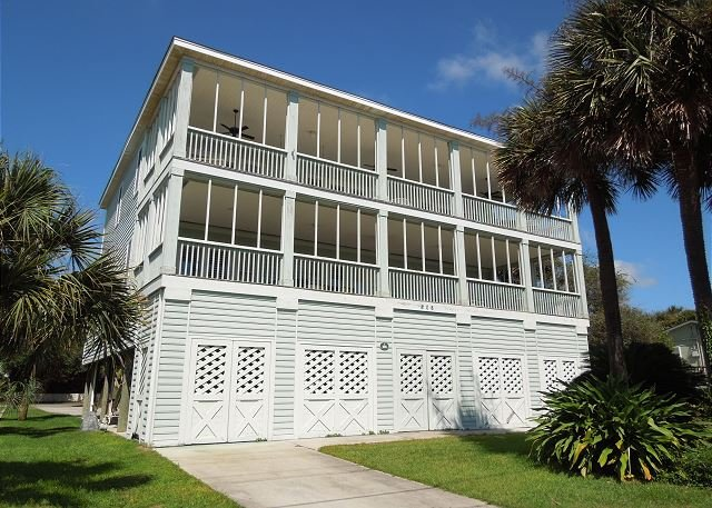 Arctic Side of House - Elegant Escape - Elegance Across from the Beach - Folly Beach - rentals