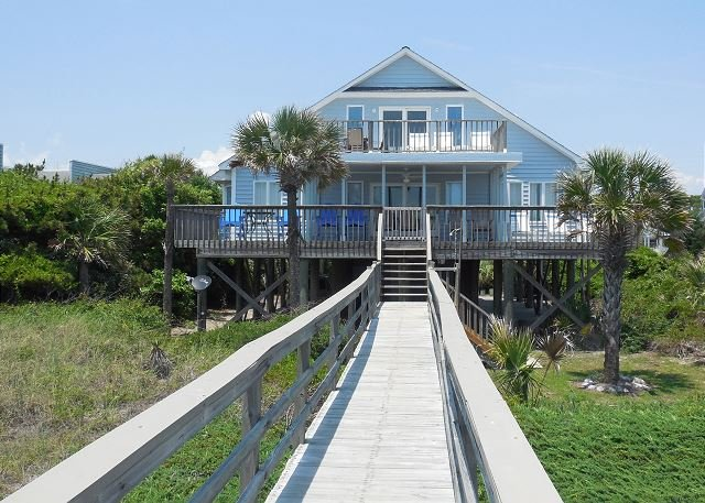 Living on the Edge - Living on the Edge - View of the Atlantic from Large Decks - Folly Beach - rentals