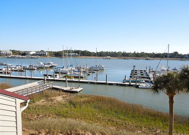 View from Upper Deck off Master Bedroom - Mariners Cay 74 - Affordable Location with Great Views - Folly Beach - rentals
