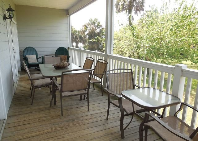 Screened Porch - Marsh Winds 2C - Condo with Marsh and Sunset Views - Folly Beach - rentals