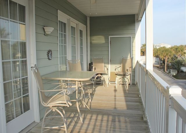 Covered Porch - Pavilion Watch #1A - Relaxing Condo in the Heart of Folly - Folly Beach - rentals