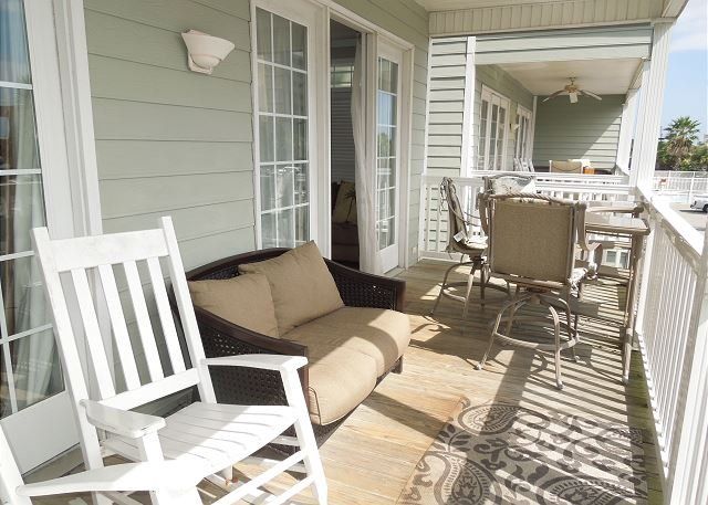 Balcony - Pavilion Watch #1B - Large Oceanfront Condo - Folly Beach - rentals