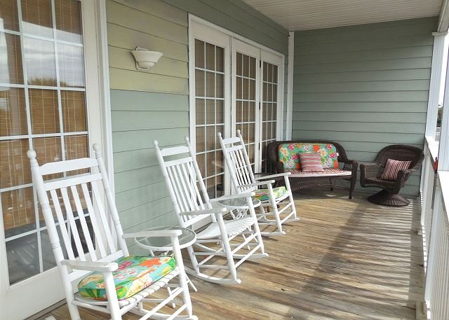 Deck - Pavilion Watch #2A - Spacious Living Area and Deck with Ocean Views - Folly Beach - rentals