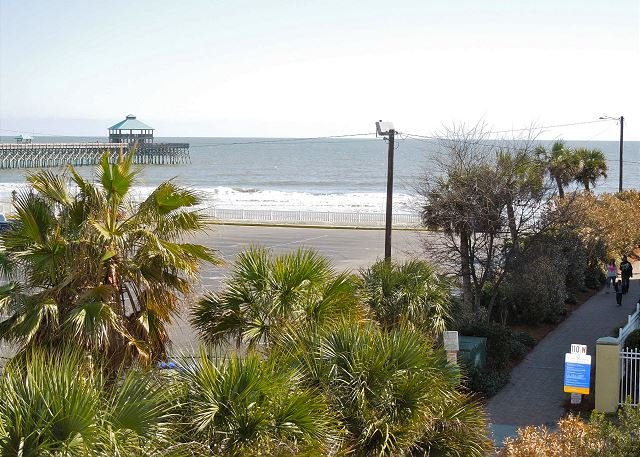 View of Ocean from Master Covered Porch - Pier Pointe Villas C102 - Steps from the Beach, Pier and Downtown Folly - Folly Beach - rentals