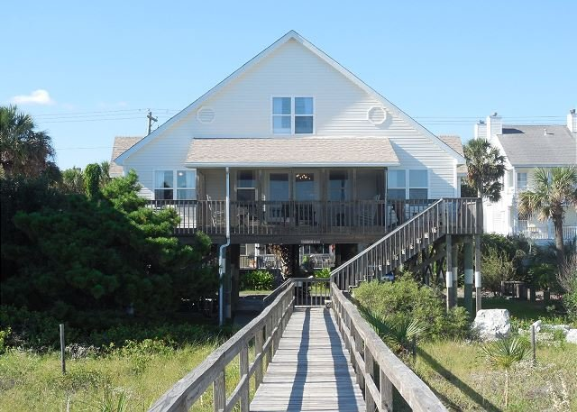Exterior - Sandi Lou - Oceanfront Home Designed for Large Families - Folly Beach - rentals