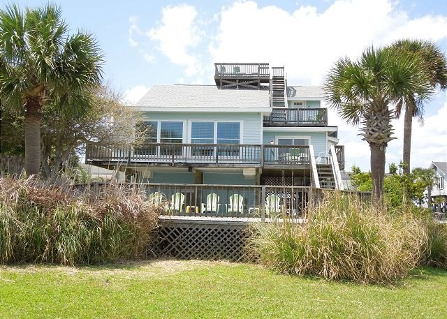 View of Ocean Side of House - Sea Y'all - Ocean, Marsh and River Views! - Folly Beach - rentals
